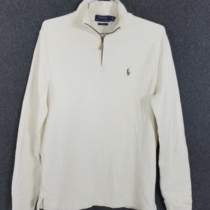 Ralph Lauren Estate Rib Zip Up Henley Ribbed Shirt